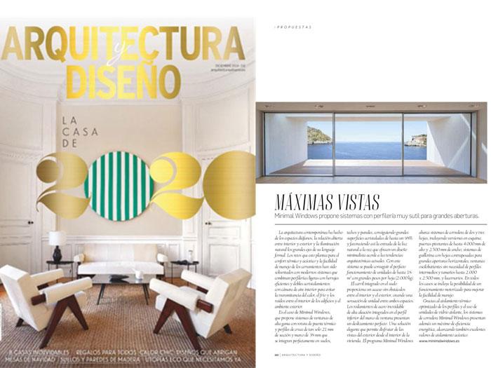 MINIMAL WINDOWS En la revista Arquitectura y Diseño