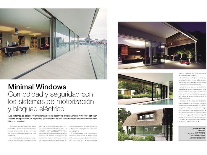 MINIMAL WINDOWS® En la revista HUECO ARQUITECTURA